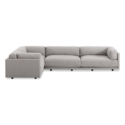 Blu Dot - Sunday L-Shaped Sectional Sofa - Right-Facing Sectional / Agnew Grey - Lekker Home