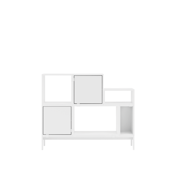 Muuto - Stacked Storage System - White / Solution 1 - Lekker Home
