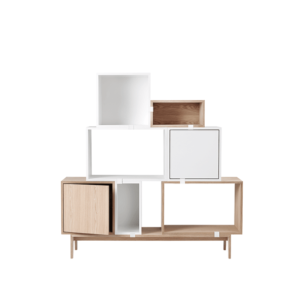 Muuto - Stacked Storage System - White / Solution 2 - Lekker Home