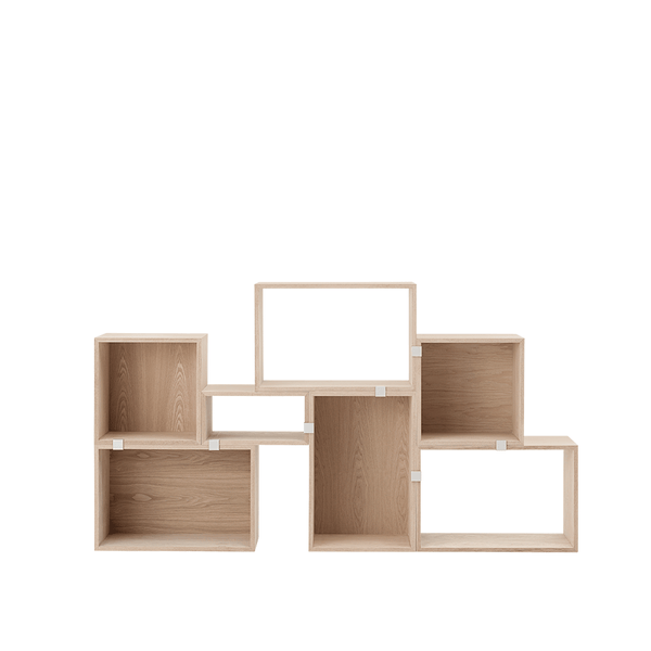 Muuto - Stacked Storage System - White / Solution 3 - Lekker Home