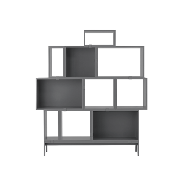 Muuto - Stacked Storage System - Grey / Solution 5 - Lekker Home