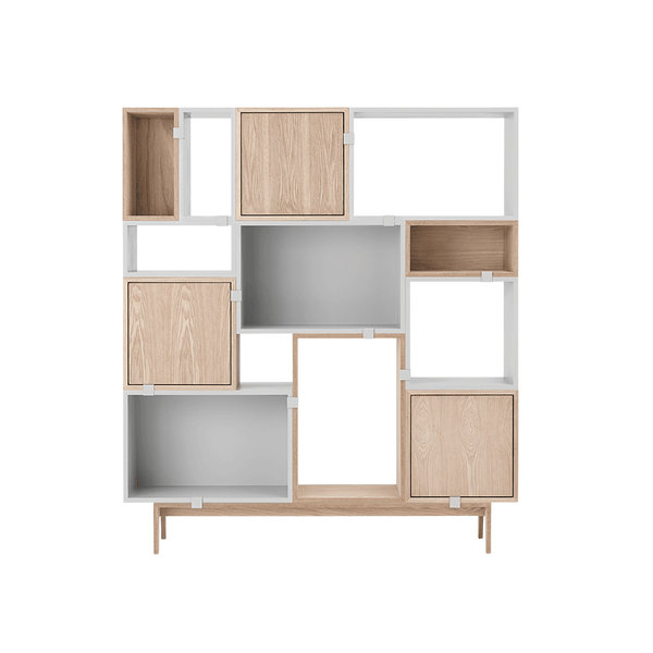 Muuto - Stacked Storage System - White / Solution 6 - Lekker Home