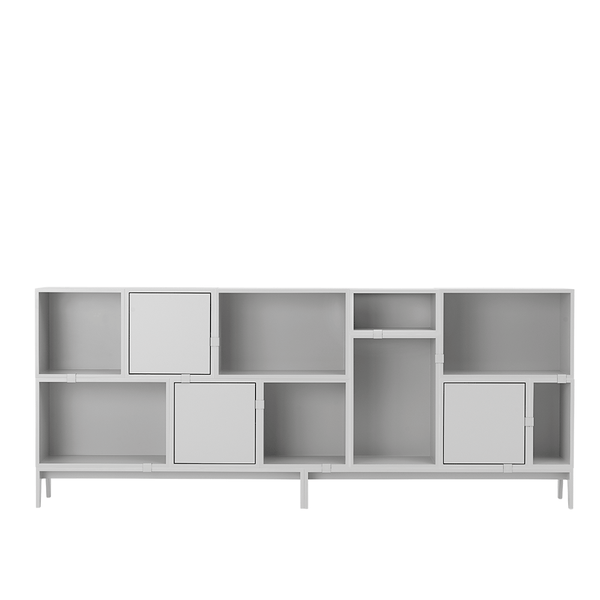 Muuto - Stacked Storage System - White / Solution 7 - Lekker Home
