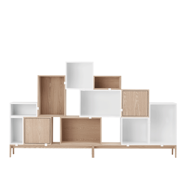 Muuto - Stacked Storage System - White / Solution 8 - Lekker Home