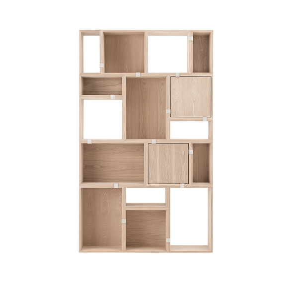Muuto - Stacked Storage System - White / Solution 9 - Lekker Home