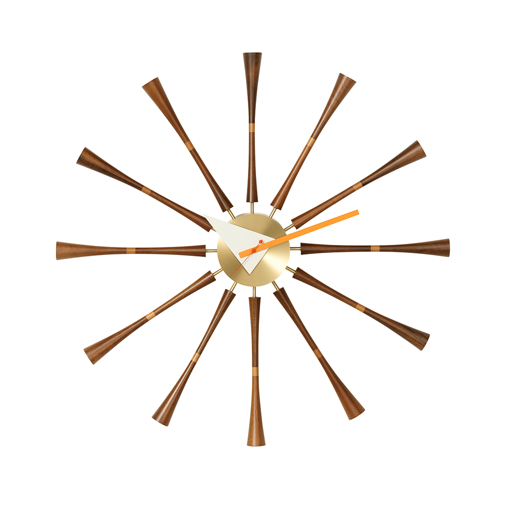 Nelson Spindle Clock By Vitra Lekker Home
