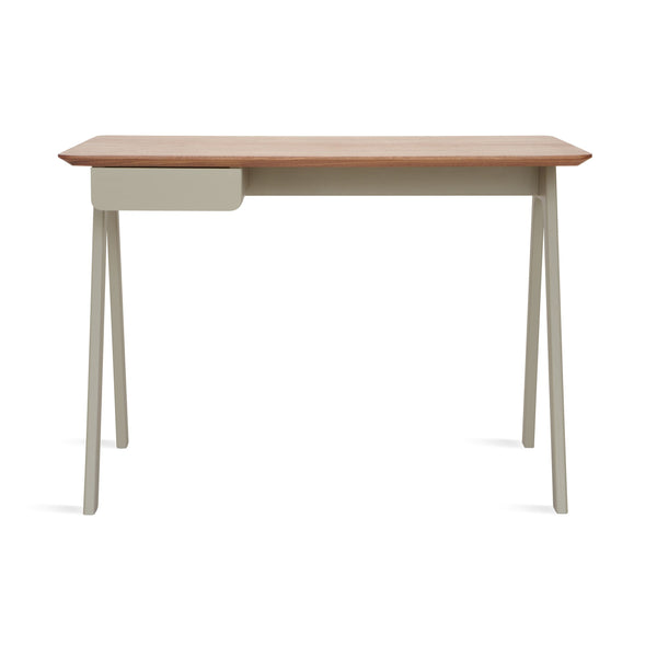 Blu Dot - Stash Desk - Walnut/Grey / One Size - Lekker Home