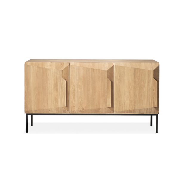 Ethnicraft NV - Stairs Sideboard - Natural Oak / Three Doors - Lekker Home