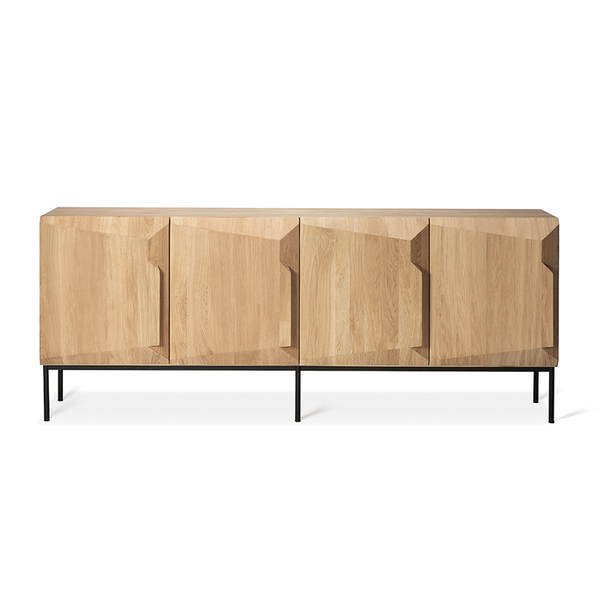 Ethnicraft NV - Stairs Sideboard - Natural Oak / Four Doors - Lekker Home