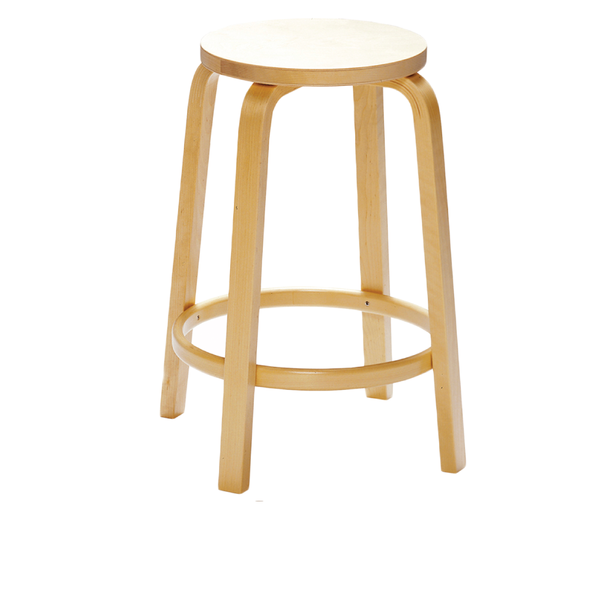 Artek - Stool 64 - Birch Veneer Seat + Natural Lacquered Legs / Counter Height - Lekker Home