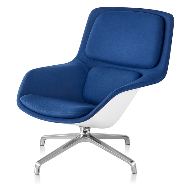 Herman Miller - Striad™ Mid-Back Lounge Chair - Noble Heathered Grey / Wire Base - Lekker Home