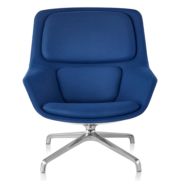 Herman Miller - Striad™ Mid-Back Lounge Chair - Noble Cadet / 4-Star Swivel Base - Lekker Home