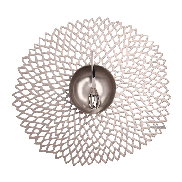 Chilewich - Dahlia Placemat - Gunmetal / One Size - Lekker Home