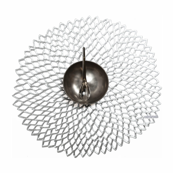 Chilewich - Dahlia Placemat - Silver / One Size - Lekker Home