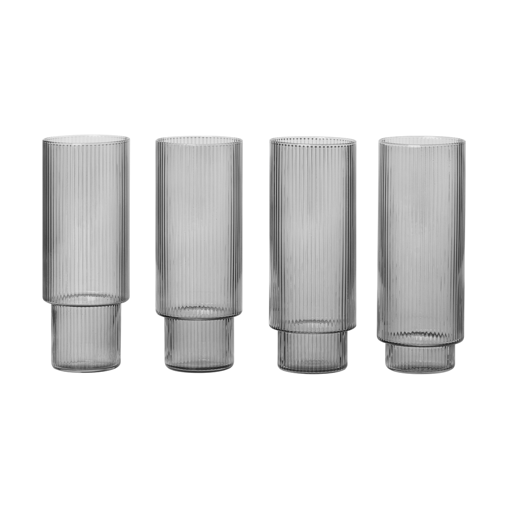 Ferm Living - Ripple Long Glass Set - Lekker Home