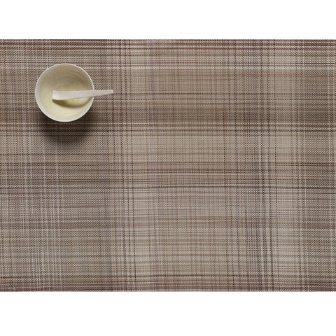 "Chilewich - Plaid Placemat - Tan / 14"" x 19"" - Lekker Home"