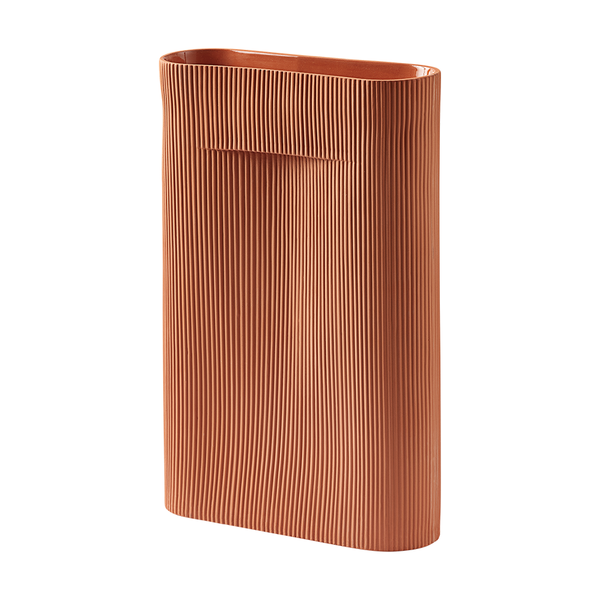Muuto - Ridge Vase - Terracotta / Large - Lekker Home