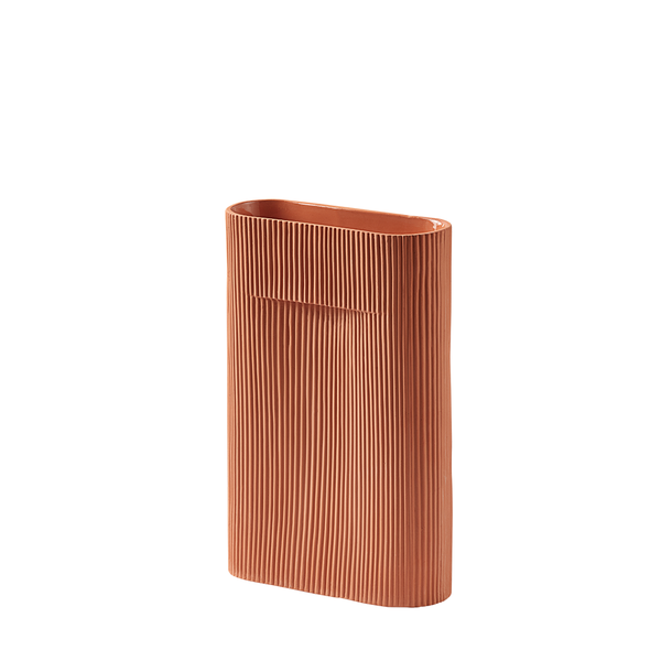 Muuto - Ridge Vase - Terracotta / Small - Lekker Home