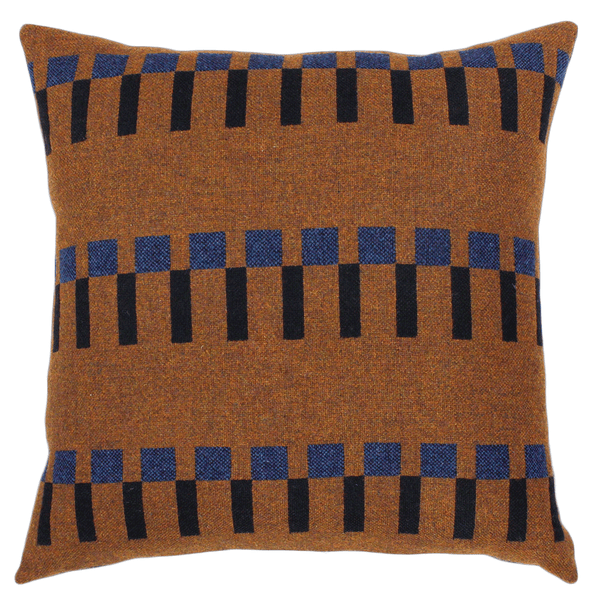 "Eleanor Pritchard - Dovetail Cushion - Tobacco / 22"" x 22"" - Lekker Home"