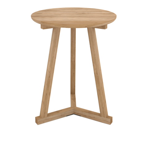 "Ethnicraft NV - Tripod Side Table - Oak / 18"" - Lekker Home"