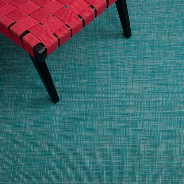 Chilewich - Mini Basketweave Floor Mat - Turquoise / Large Runner - Lekker Home