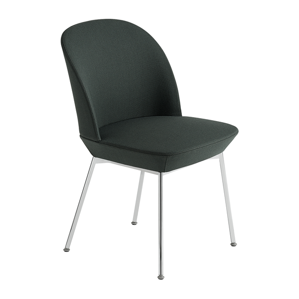 Muuto - Oslo Side Chair - Twill Weave 990 / Chrome / One Size - Lekker Home