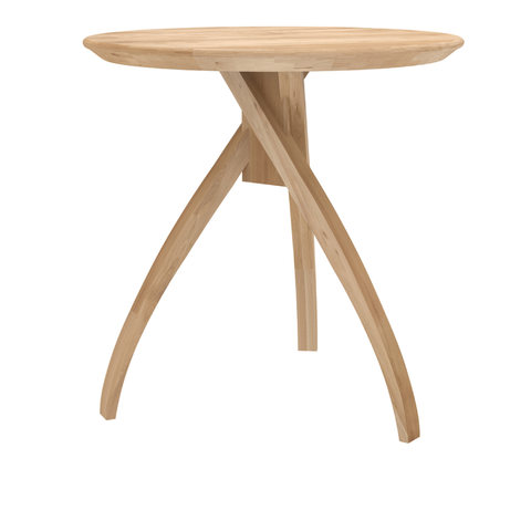 "Ethnicraft NV - Twist Side Table - Solid Oak / 16"" - Lekker Home"