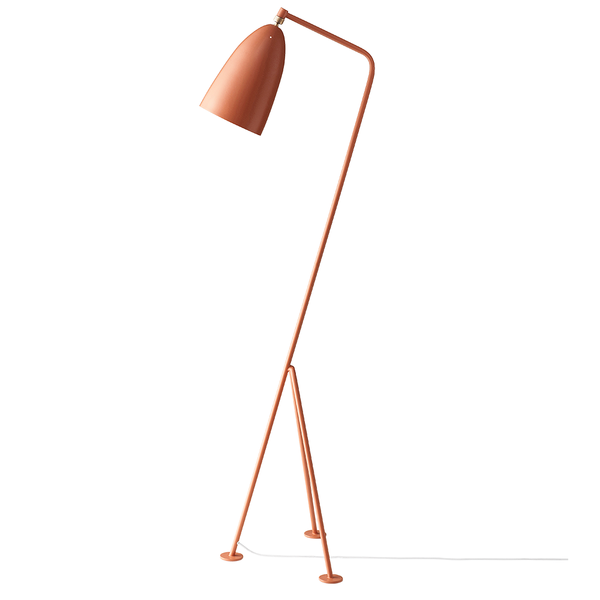 GUBI - Gräshoppa Floor Lamp - Vintage Red Semi Matte / One Size - Lekker Home