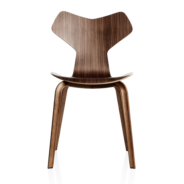 Fritz Hansen - Grand Prix™ Dining Chair - Walnut / Wooden Legs - Lekker Home