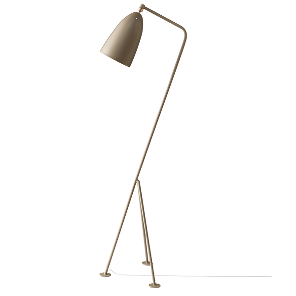 GUBI - Gräshoppa Floor Lamp - Warm Grey Semi Matte / One Size - Lekker Home