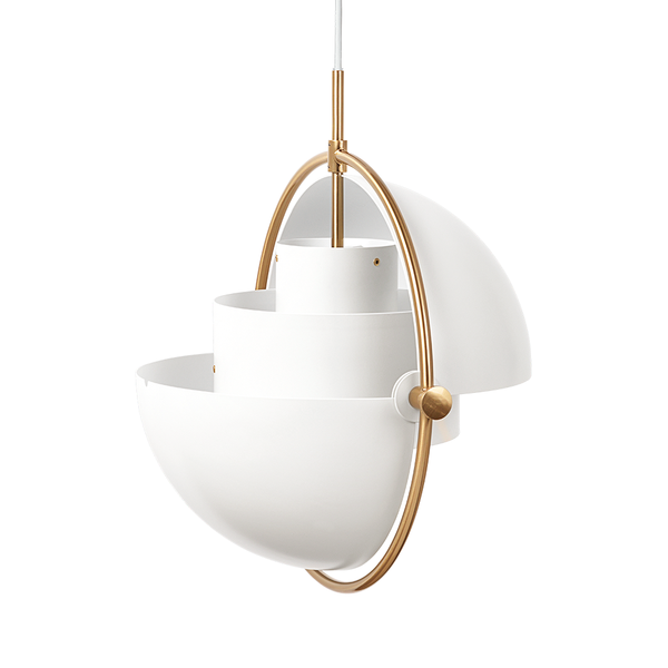GUBI - Multi-Lite Pendant - White Semi Matte + Brass / One Size - Lekker Home