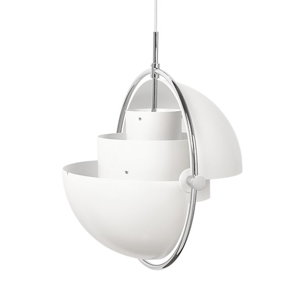 GUBI - Multi-Lite Pendant - White Semi Matte + Chrome / One Size - Lekker Home