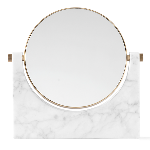 Menu A/S - Pepe Marble Mirror - Black Marble / One Size - Lekker Home