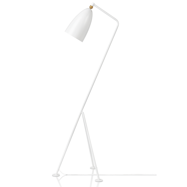 GUBI - Gräshoppa Floor Lamp - White Semi Matte / One Size - Lekker Home