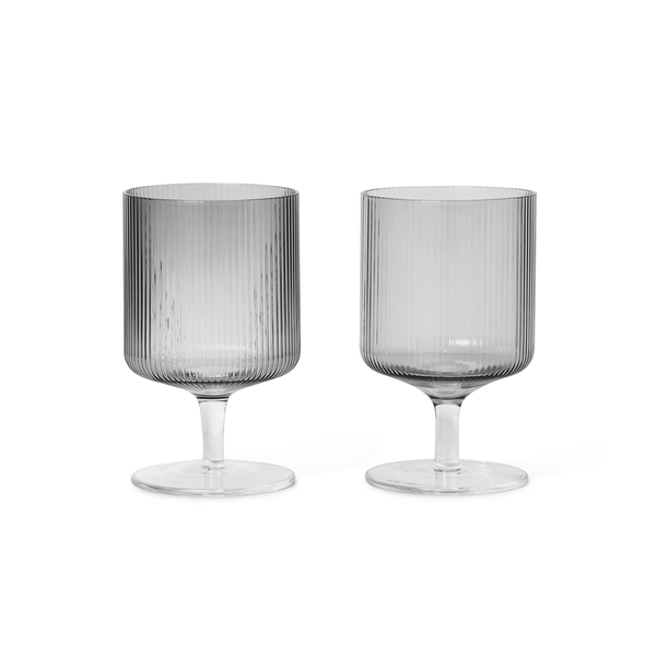 Ferm Living - Ripple Wine Glass Set - Lekker Home