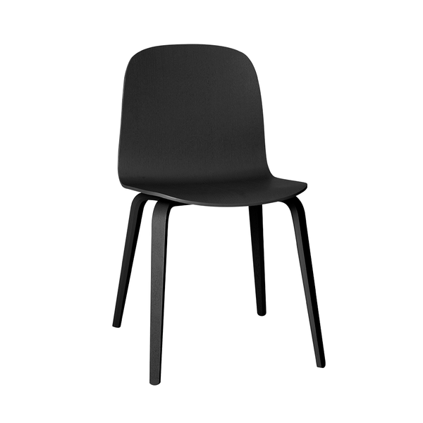 Muuto - Visu Chair - Black / Wood - Lekker Home