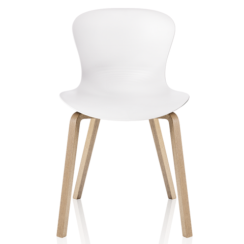 Fritz Hansen - Nap Side Chair - Wood Base - Lekker Home