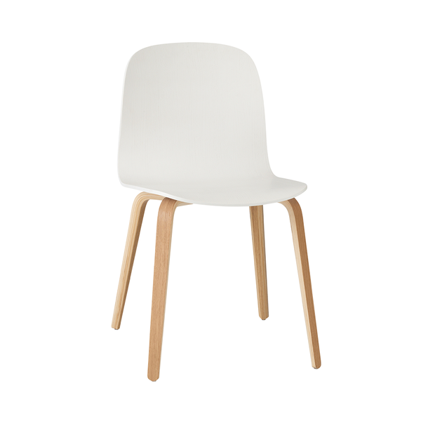 Muuto - Visu Chair - White / Wood - Lekker Home