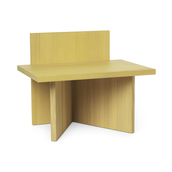 Ferm Living - Oblique Stool - Yellow Stained Ash / One Size - Lekker Home
