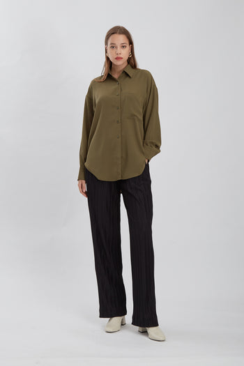 Shop At Velvet Porta Shirt Olive