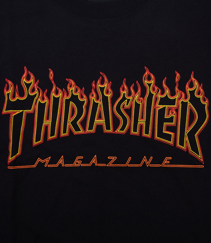 Thrasher Flame Outline S/S T-Shirt