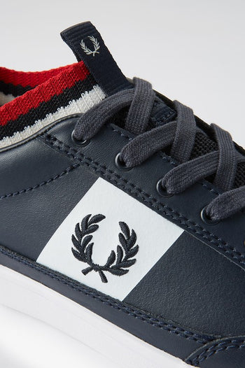 Fred Perry Deuce Leather / Knitted Sock