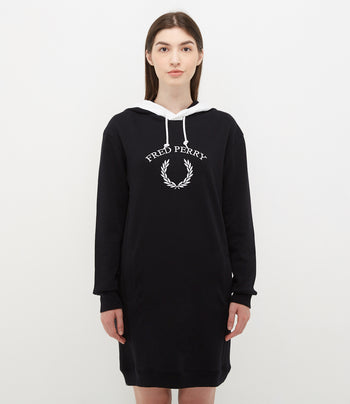 Fred Perry Embroidered Sweatshirt Dress