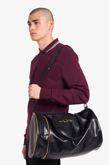 Fred Perry Sharp PU Barrel Bag