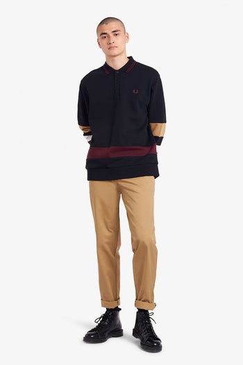 Fred Perry Striped Sleeve Polo Shirt