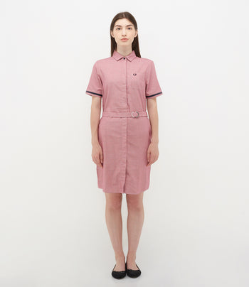 Fred Perry Woven Pattern Shirt Dress