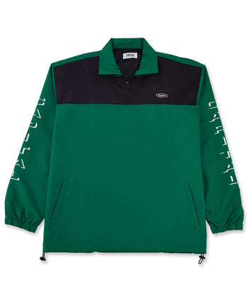 Capital Half Zip Black/Green