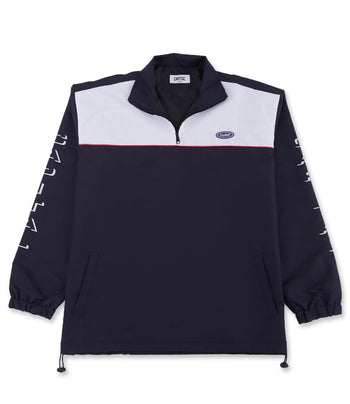 Capital Half Zip White/Navy