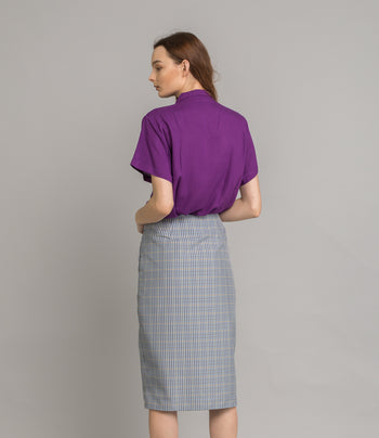 Ty Skirt - Blue Check