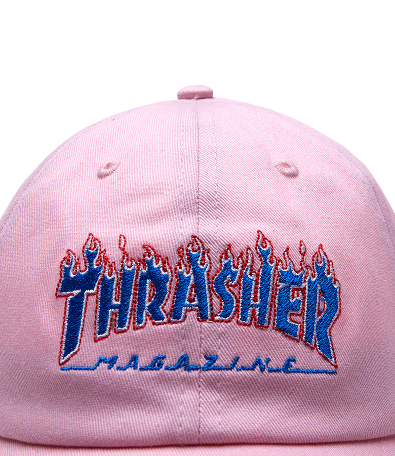 Thrasher Blue Flame Dad Cap Strapabck